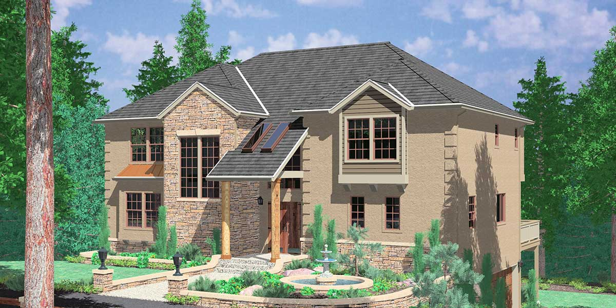 10006 Custom house plan with Garage in daylight basement