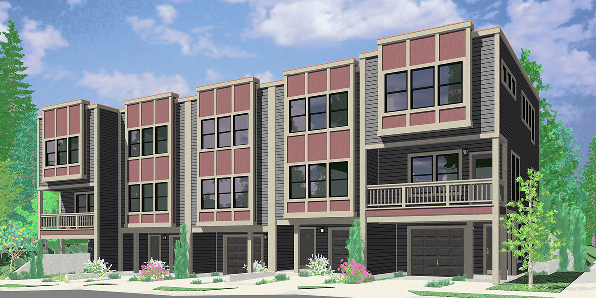 FV-560 Modern style five unit row house w/ owners units