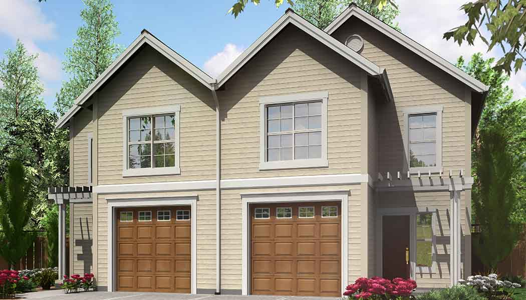 D-533 2 Story Duplex house plans, Basement House Plans, Duplex Plans, D-533