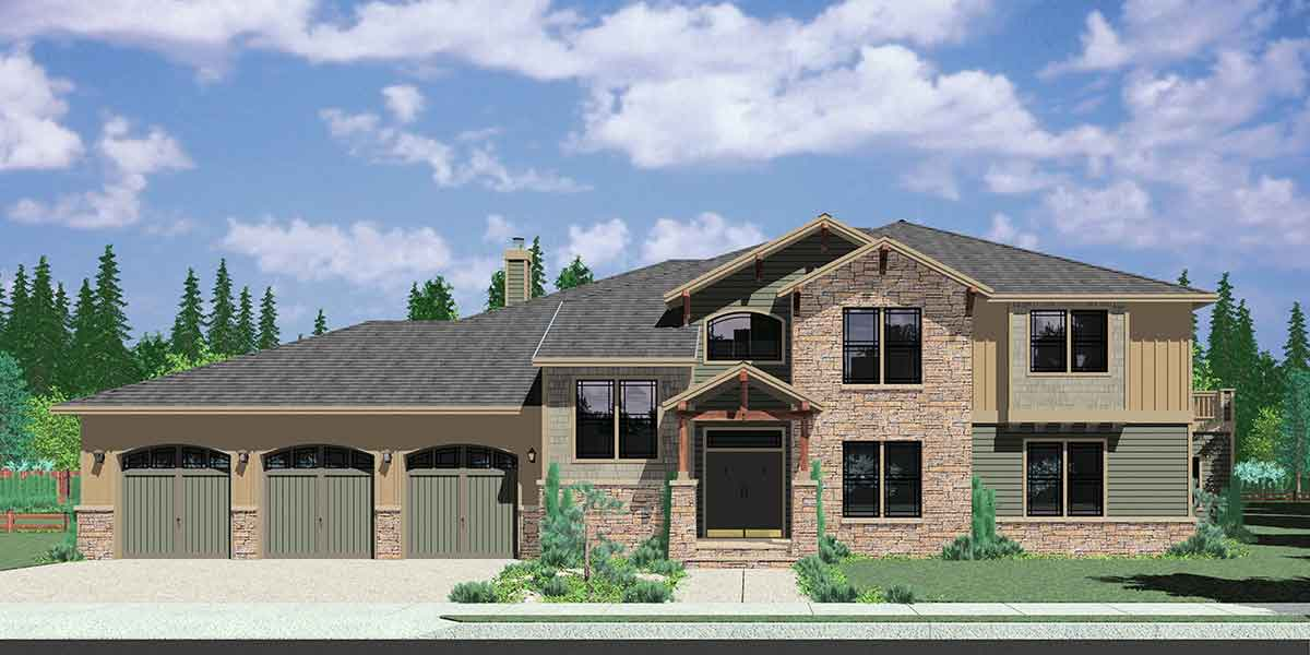 10113 Luxury House Plans, Craftsman house plans, 4 bedroom house plans