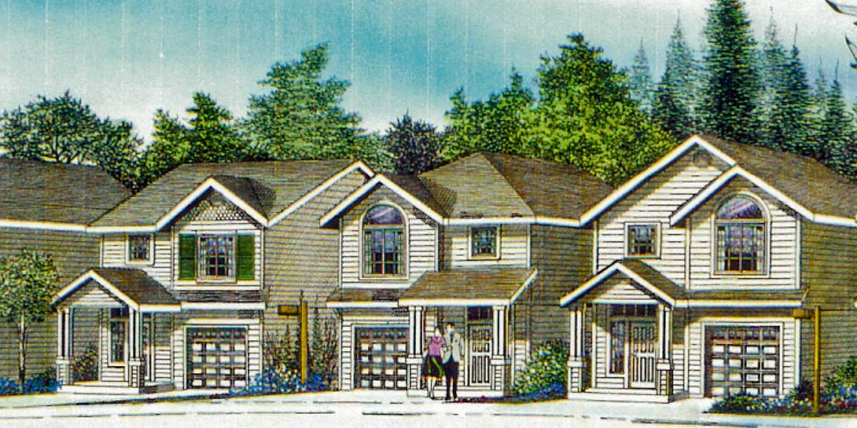10158 Narrow House Plan at 22 feet wide