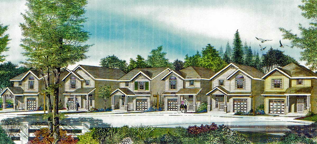 10159 Narrow Lot House Plan at 22 feet wide