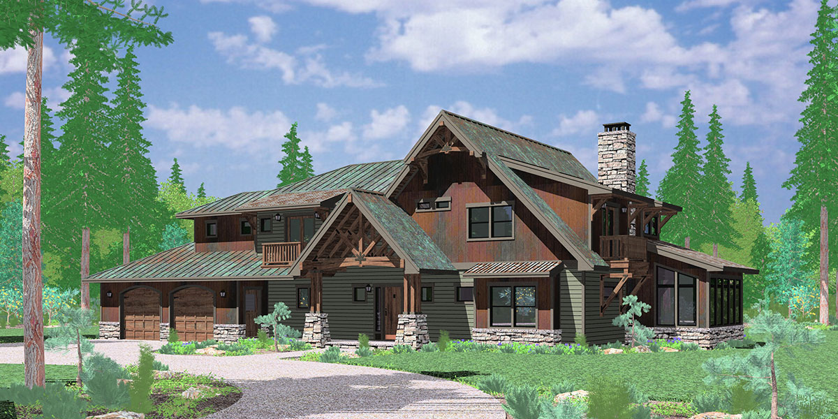 10161 Timber frame house plans, craftsman house plans, custom house plans, 10161