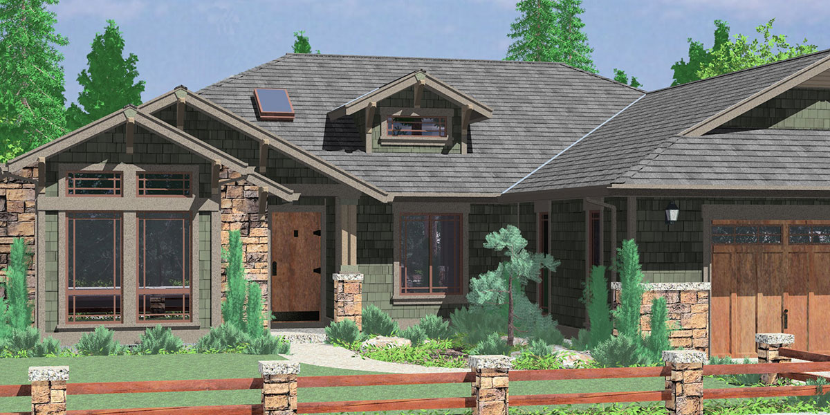 Craftsman house plans for homes built in craftsman style for 1 bedroom ranch house plans