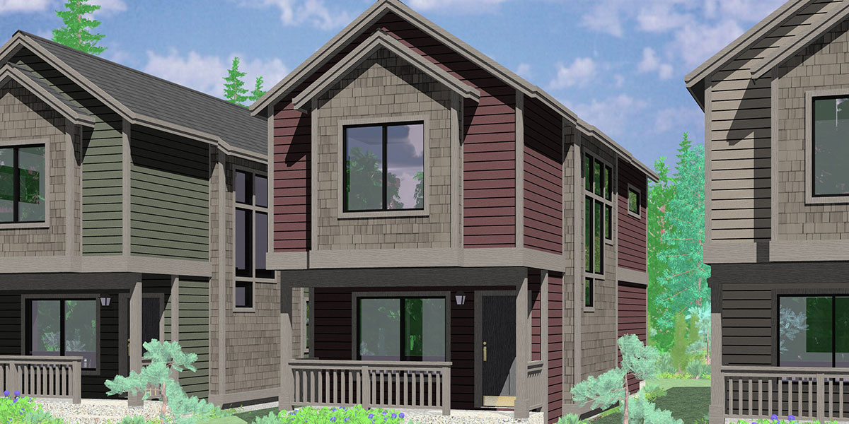 10188 Skinny single family house with a narrow 15 ft. wide foundation