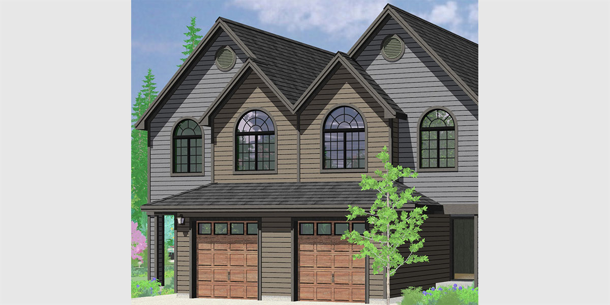 D-631 2 Story Townhouse Plan