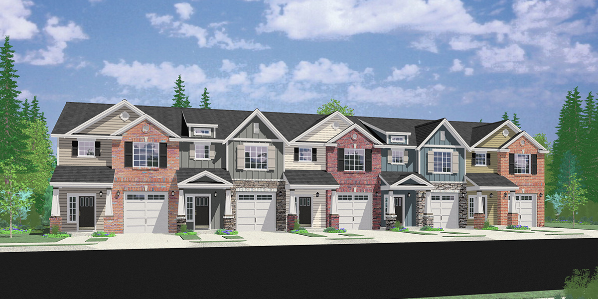 FV-605 Custom 5 Plex Townhouse Plan