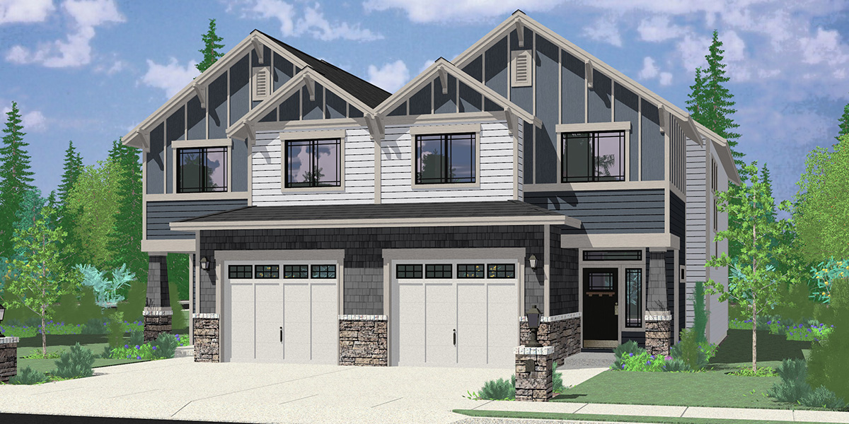 D-651 Townhouse Duplex Plan
